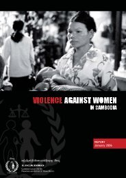 Violence against women in Cambodia - Licadho