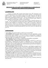 PROTOCOLO DE ACTUACIÓN ANTE MORDEDURAS O ...