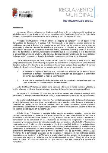 Reglamento Municipal del Voluntariado Social - Ayuntamiento ...