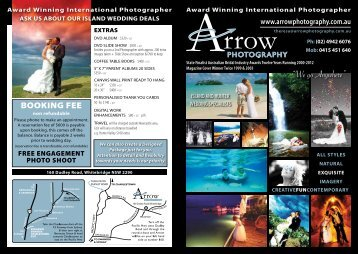 """""""We go Anywhere"""" - Arrow Photography"""