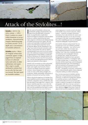 Attack of the Stylolites...! - Infotile