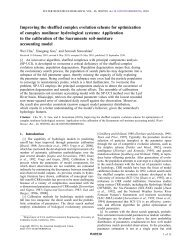 Improving the shuffled complex evolution scheme for optimization of ...