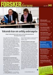 Voksende krav om uvildig undersøgelse - FORSKERforum