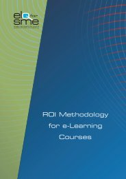 ROI Methodology for e-Learning Courses - Cecoa