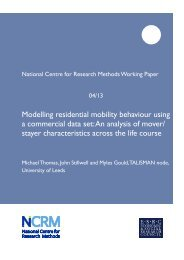 PDF (NCRM working paper) - NCRM EPrints Repository