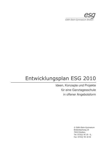 ESG2010 - Freundeskreis des Edith-Stein-Gymnasiums in Bretten