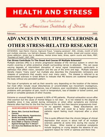 advances in multiple sclerosis & other stress-related research
