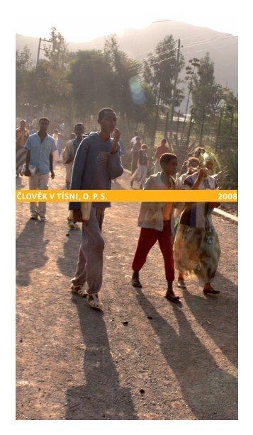 Výroční zpráva 2008 - Člověk v tísni