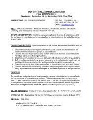MGT 6671: ORGANIZATIONAL BEHAVIOR - Troy University