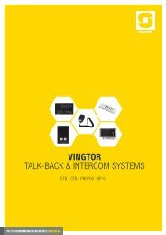 VINGTOR talk-back & intercom systems - Zenitel
