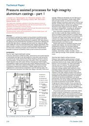 Pressure assisted processes for high integrity aluminium castings ...