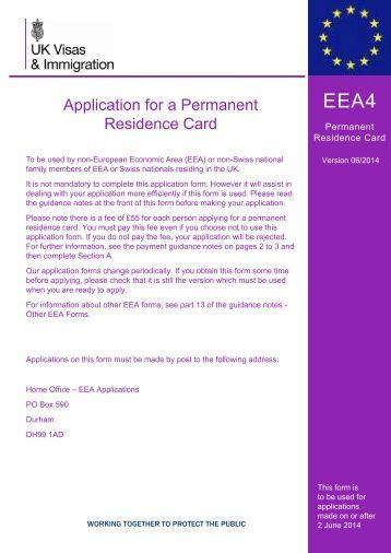 Form EEA4 - UK Border Agency - the Home Office