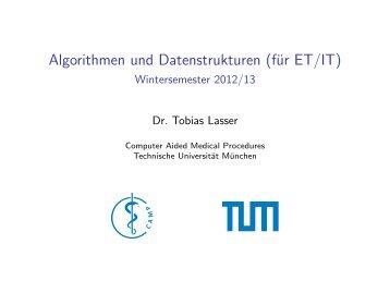 Algorithmen und Datenstrukturen (für ET/IT) - Wintersemester 2012/13