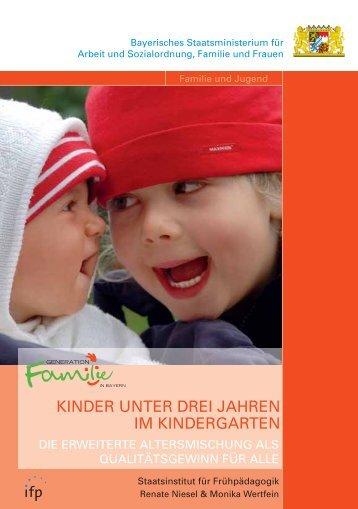 Kinder unter drei Jahren im Kindergarten (1'520 kb) - Bayern