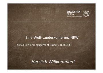 Präsentation Workshop 12 Inlandsprojekte - Eine Welt Netz NRW