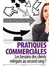 Pratiques commerciales : les besoins des clients ... - Conseiller
