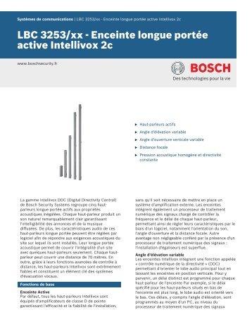LBC 3253/xx - Enceinte longue portée active Intellivox 2c