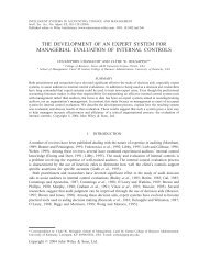 The development of an expert system for managerial evaluation of ...