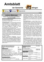 Vereinsnachrichten - Mietingen