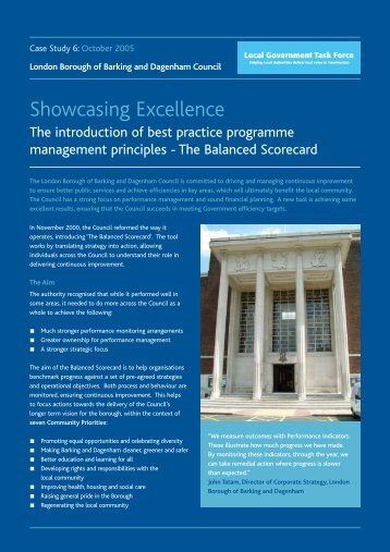 The Introduction of Best Practice Programme Management Principles