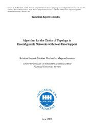 Algorithm for the Choice of Topology in Reconfigurable Networks ...