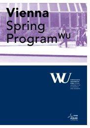 Vienna Spring ProgramWU - Eller MBA Programs