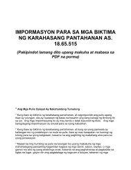 impormasyon para sa mga biktima ng karahasang pantahanan as