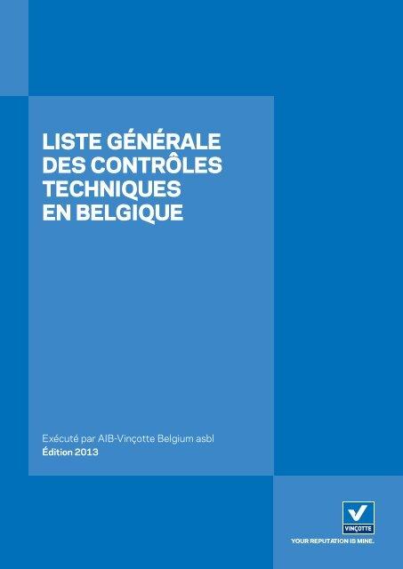 Voir Liste générale des contrôles techniques en Belgique - Vinçotte