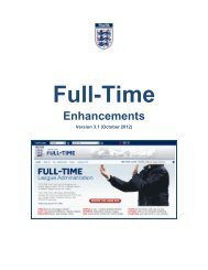 Full-Time Enhancements - The Football Association