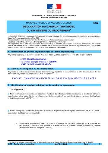 dc2_-_Declaration_du_candidat - Lycée Georges Brassens