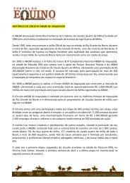 HISTÓRICO DO CIRCUITO ANQM DE ... - Portal Do Equino