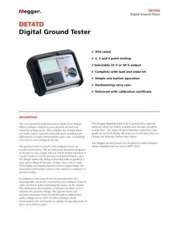 DET4TD Digital Ground Tester - MaxiCont