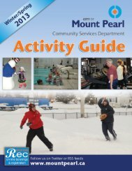 2013 Winter Activity Guide - City of Mount Pearl