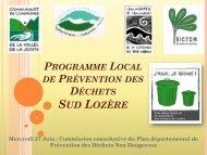 Programme Local de Prévention des Déchets Sud Lozère