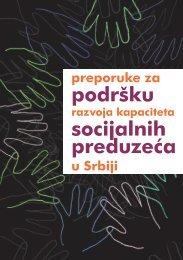 Preporuke za podršku razvoja kapaciteta socijalnih preduzeća u Srbiji