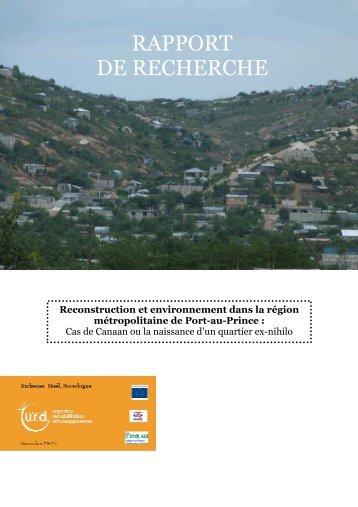 Reconstruction & Environnement - HAITI