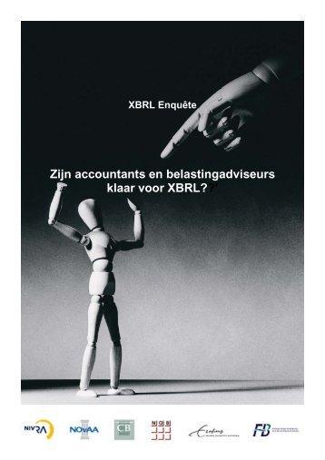 XBRL Enquête. Zijn accountants en belastingadviseurs klaar voor