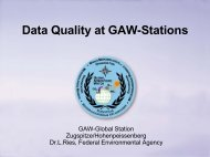 Data Quality at GAW-Stations - BEO
