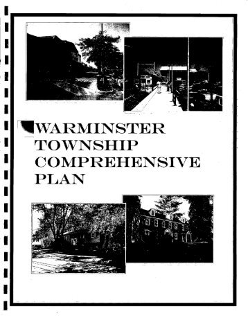 WARMINSTER TOWNSHIP COMPREHENSIVE PLAN - E-Library