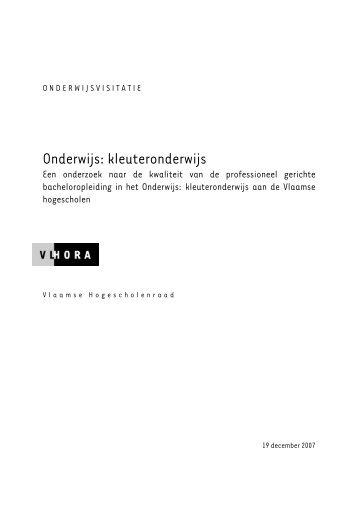 Onderwijs: kleuteronderwijs - Vlhora