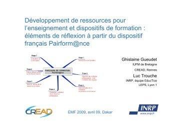 Développement de ressources pour l'enseignement et ... - Educmath
