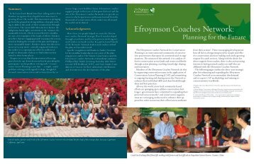Efroymson Coaches Network: - Conservation Gateway