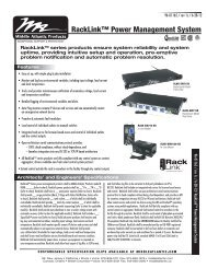 Download RackLink Power Management System spec sheet - CE Pro