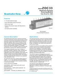 Electronic Pressure Scanning Module Features General Description ...