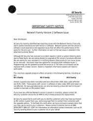 letter to distributor from GE NXv2.PDF - UTCFS Global Security ...
