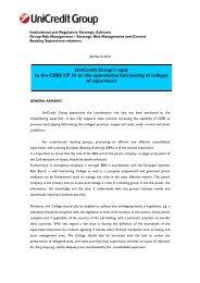 UniCredit Group's - European Banking Authority