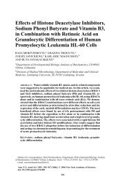 Effects of Histone Deacetylase Inhibitors, Sodium Phenyl Butyrate ...