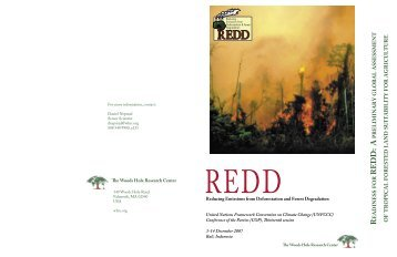 Readiness for REDD - A Preliminary Global Assessment of