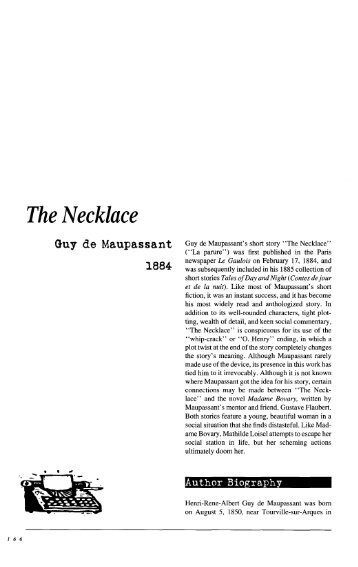 the necklace short story setting