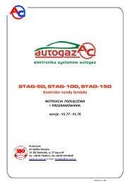 Instrukcje obsługi STAG-50, 100, 150